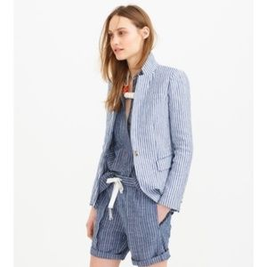J. CREW Schoolboy Blue/White Striped Blazer